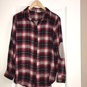 Anthropologie |  Plaid Waffle Flannel Button Down